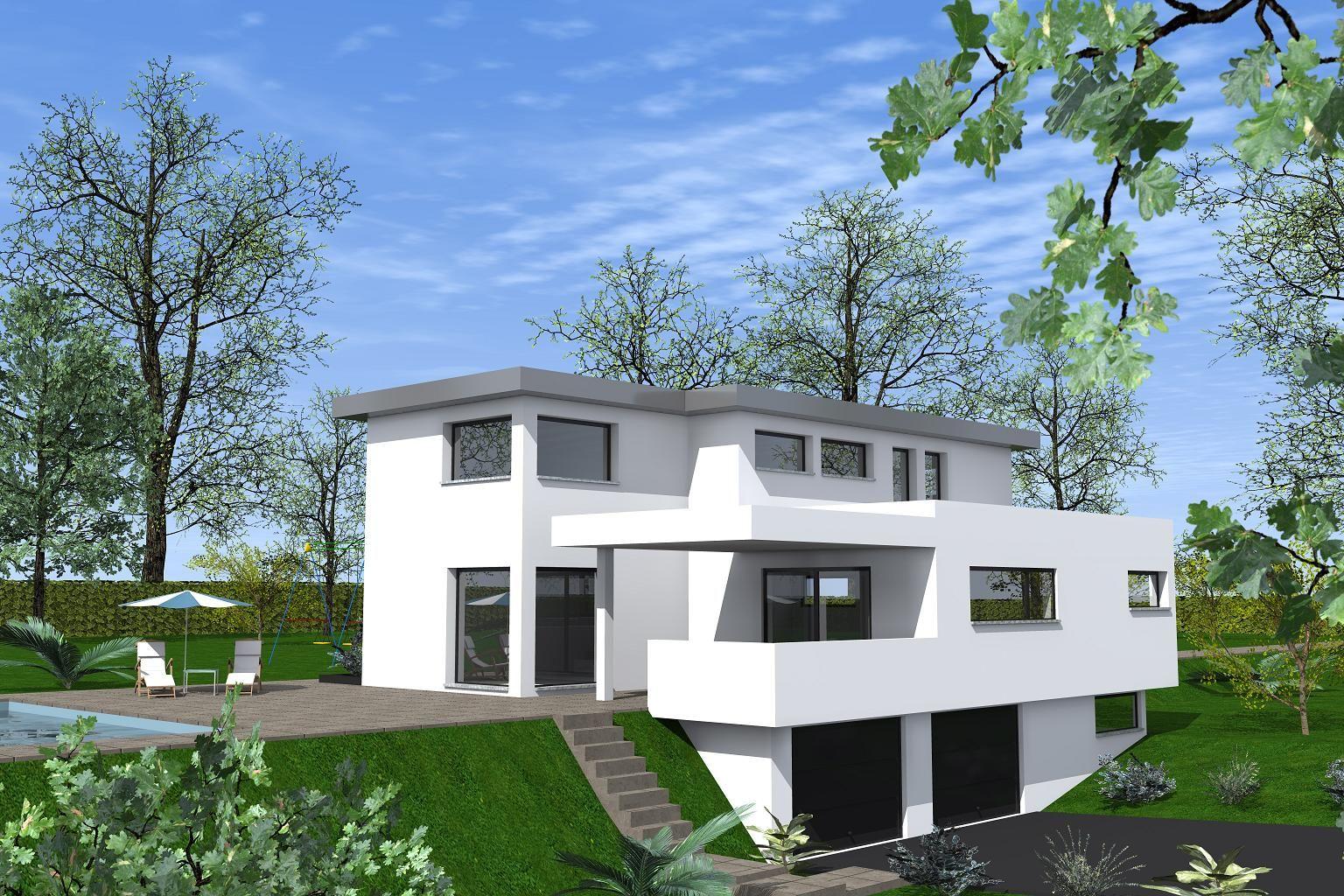 |maison toit plat à construire|