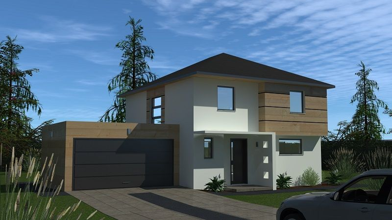 Maison design avec piscine et jardin|Maison de ville vue avant|Parcelle constructible à Rosenau