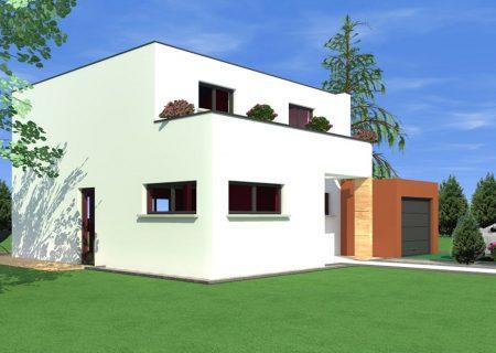 maison à toit plat blotzheim
