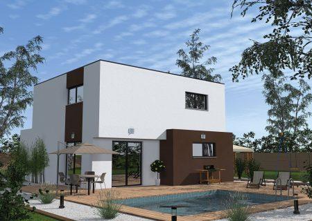 modèle de maison à construire|Maison toit plat haut rhin|