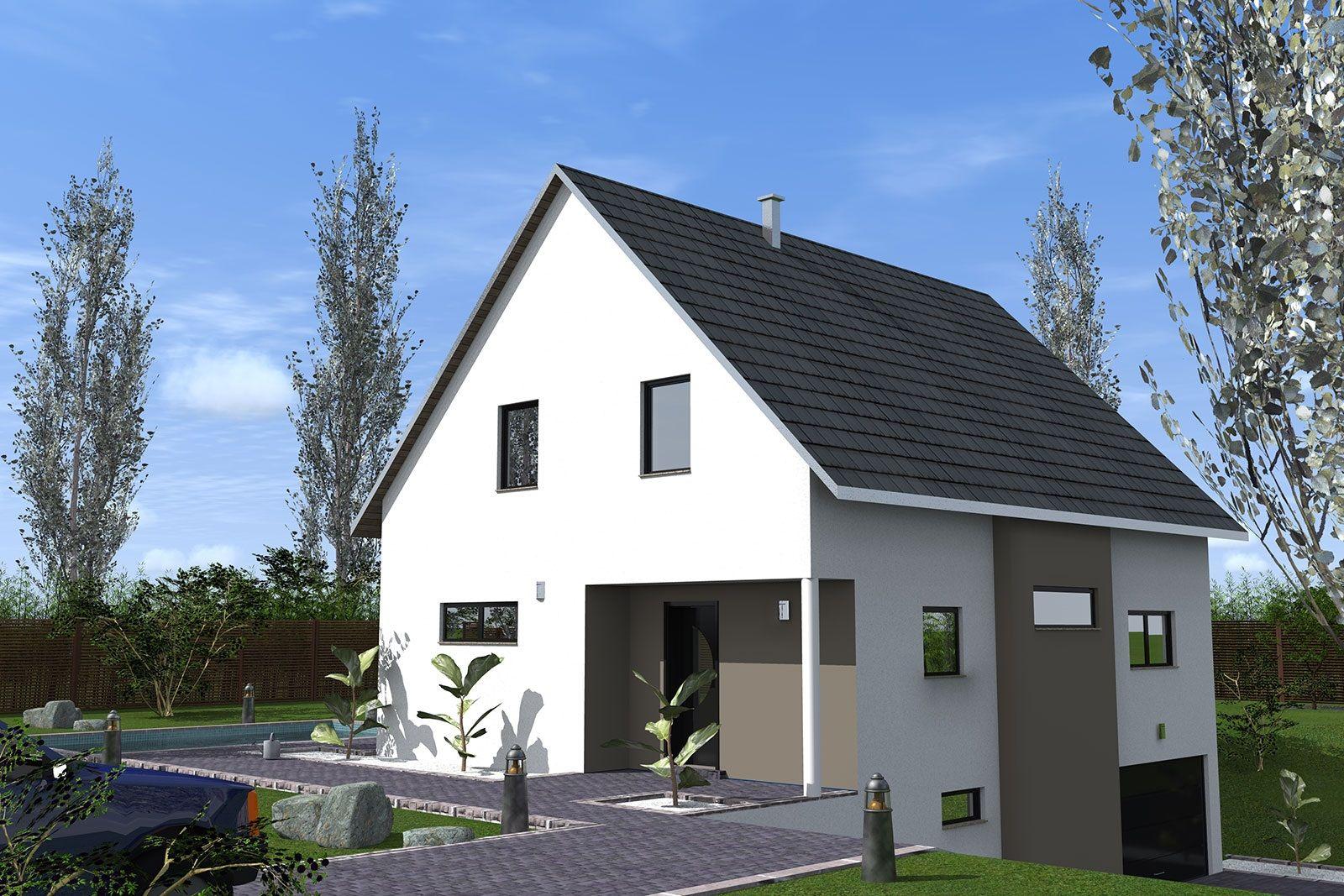 maison neuve 2 pans grande maison à construire 