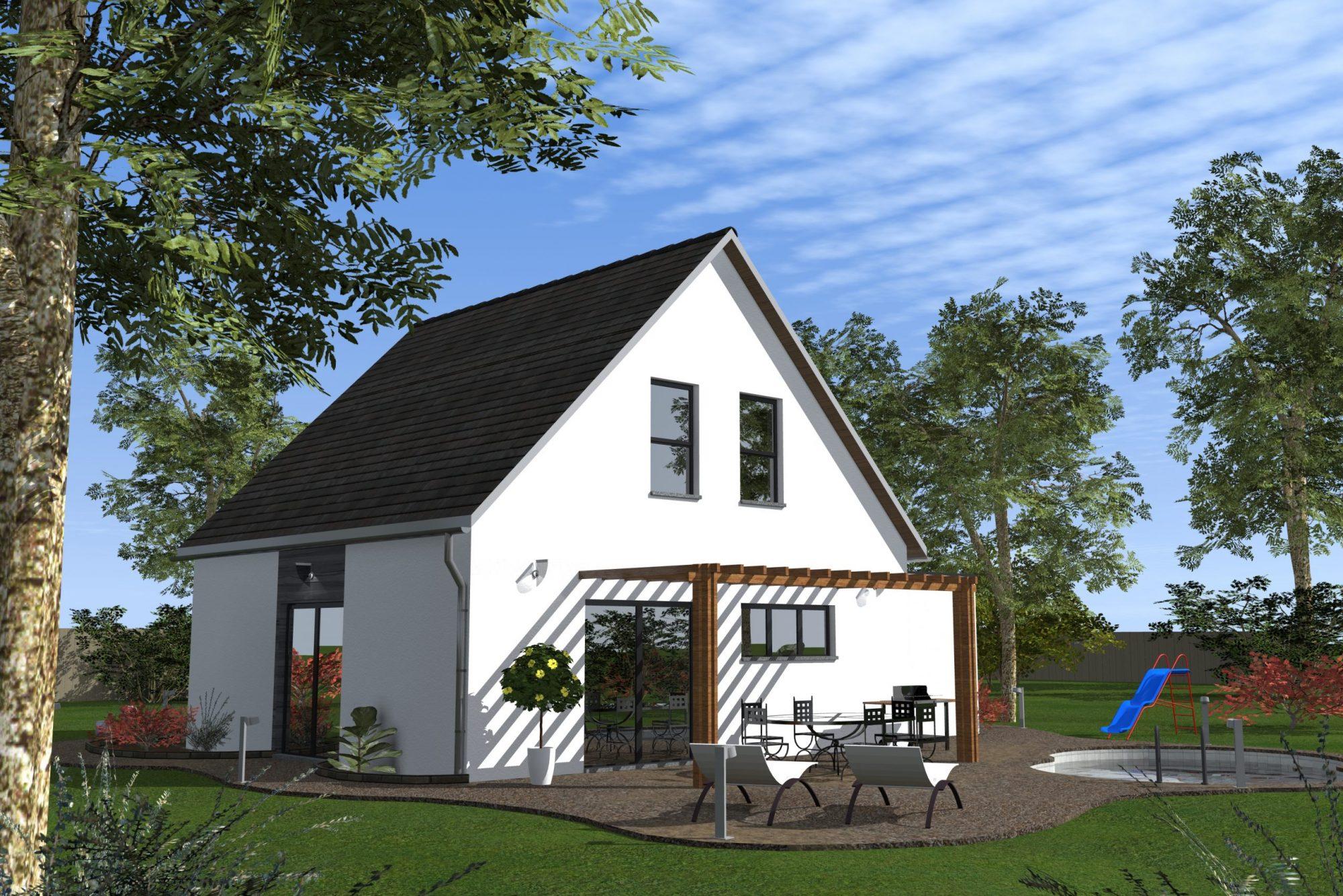 Maison individuelle avec terrasse jardin