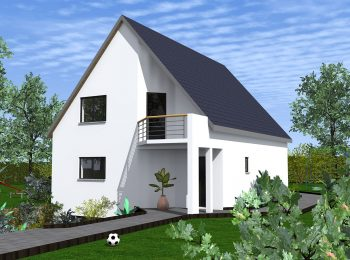Constructeur maison 2 pans balcon