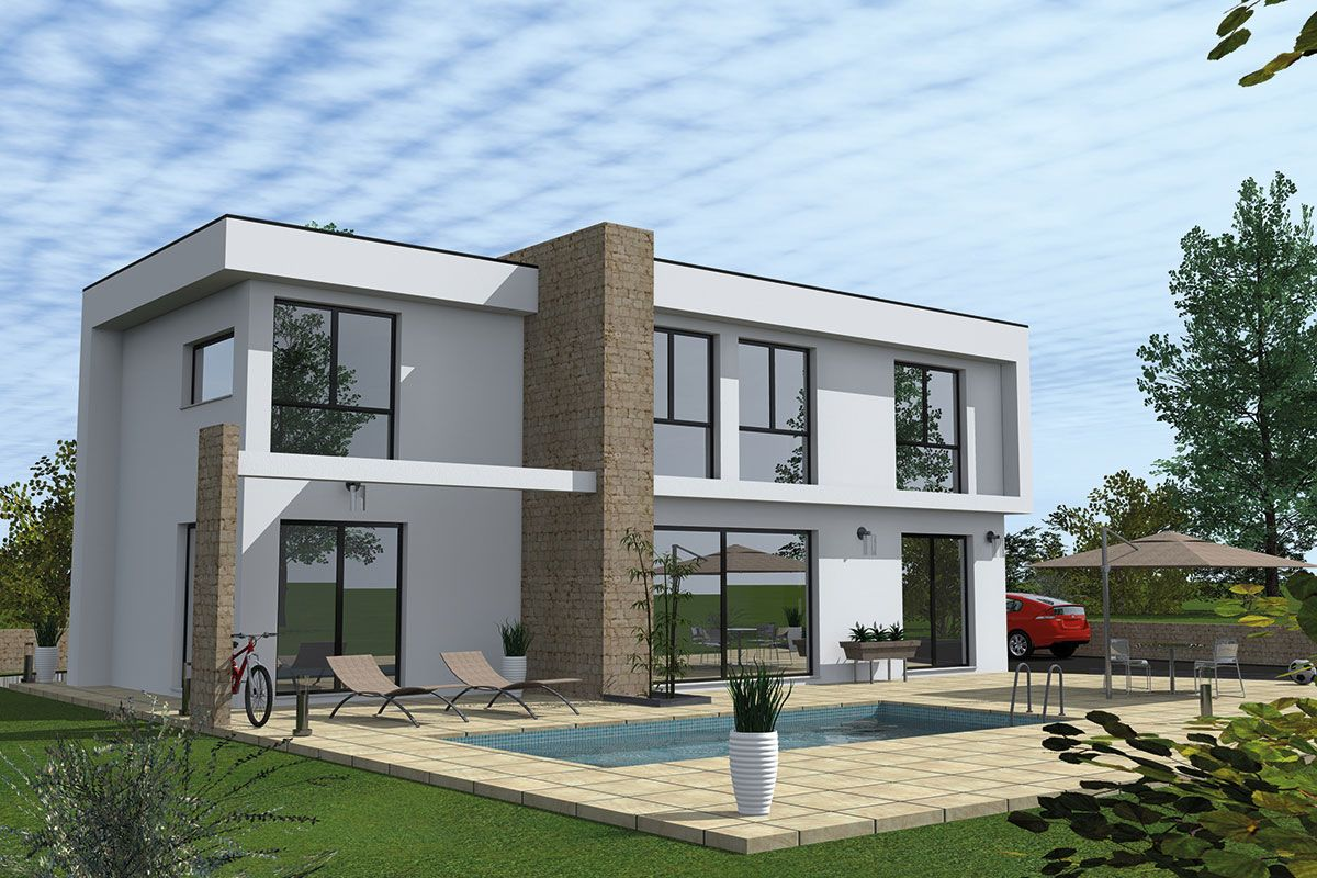 faire construire maison toit plat garage|grande maison contemporaine à toit plat