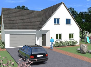 Constructeur maison traditionnelle garage