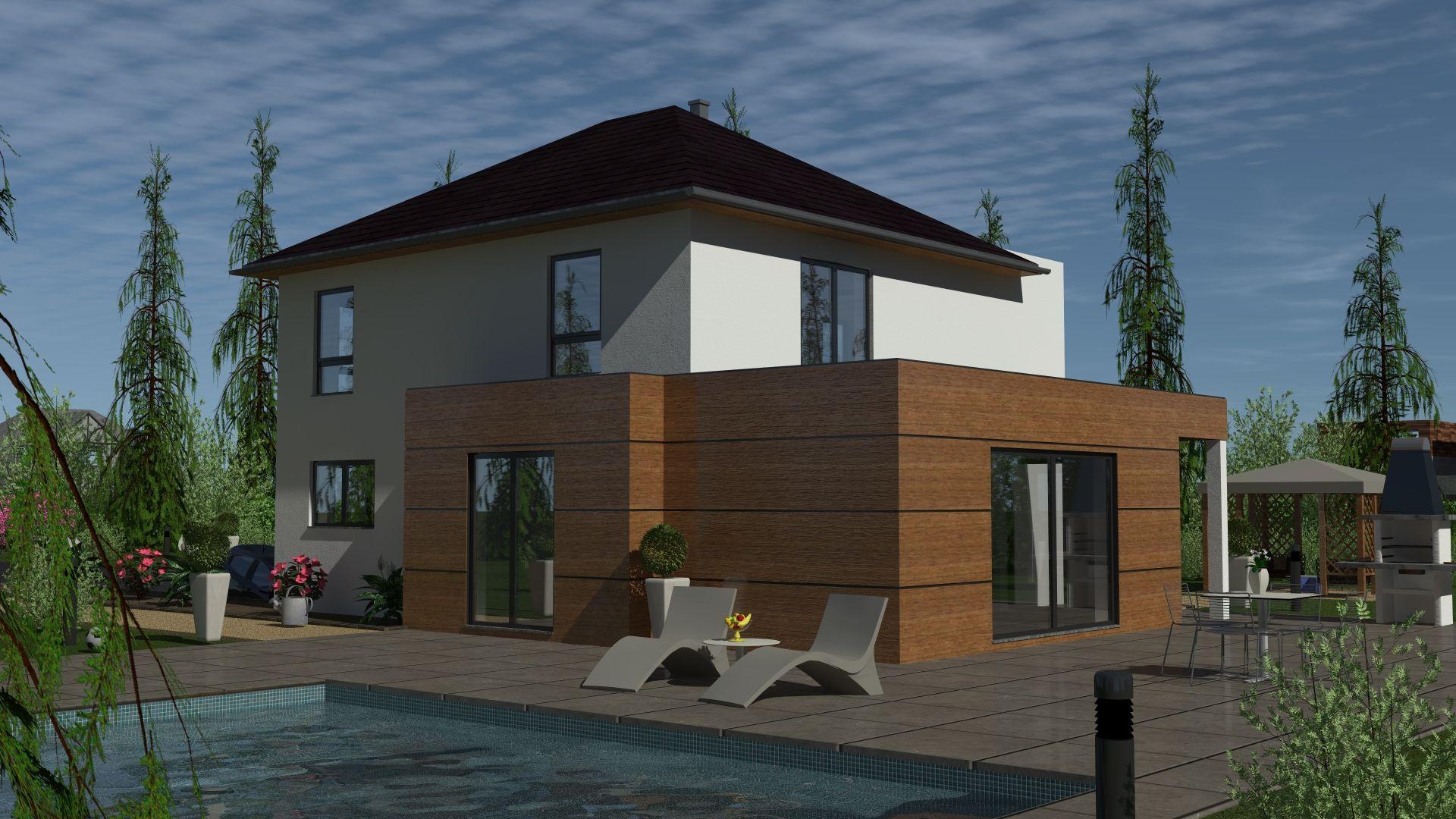 villa d'architecte maison de ville avec piscine jardin